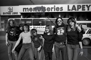 Motorhead and Girlschool on tour in France